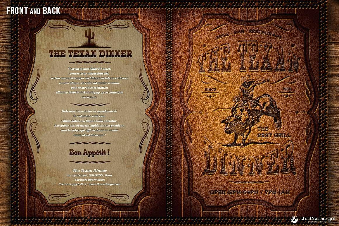 Mexican Restaurant Menu Psd Template Free