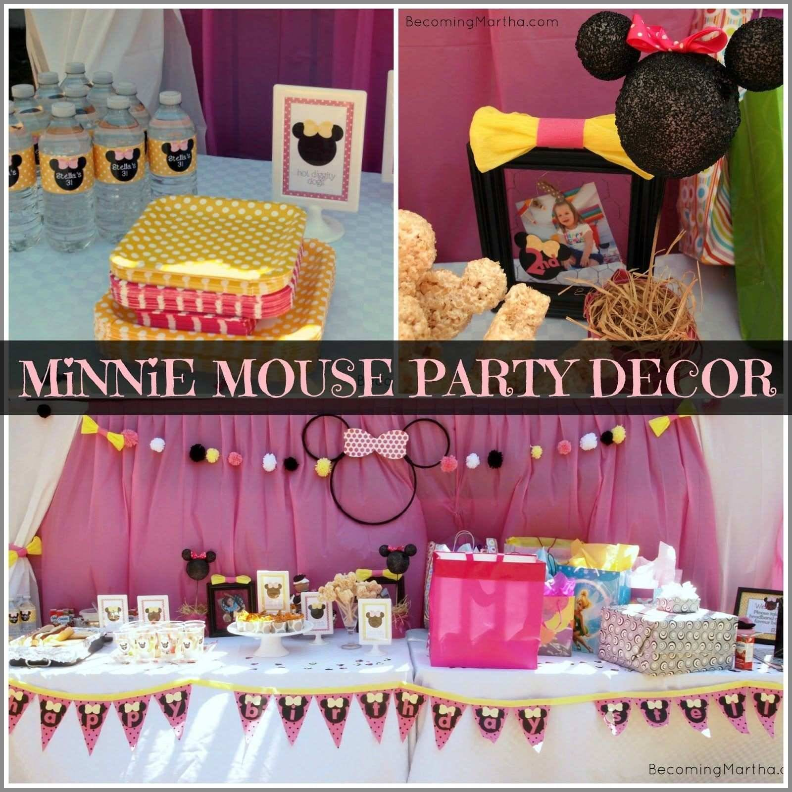 Mickey And Minnie Mouse Birthday Invitations Template