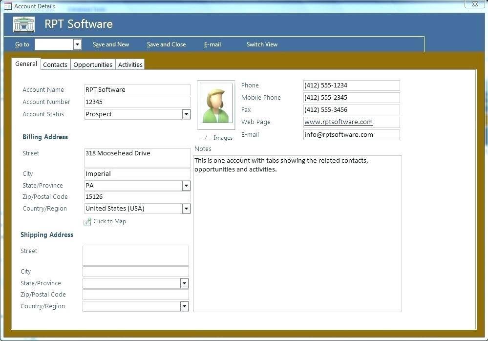 Microsoft Access 2007 Invoice Template