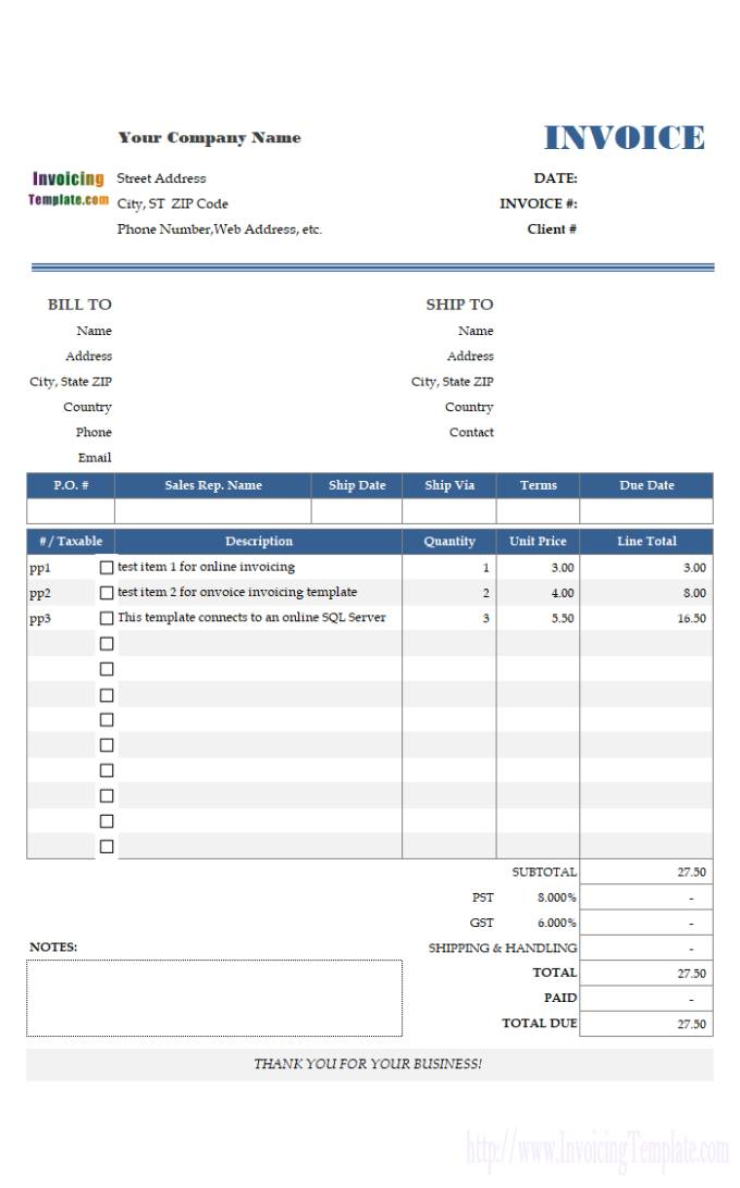 Microsoft Access 2007 Templates For Invoices