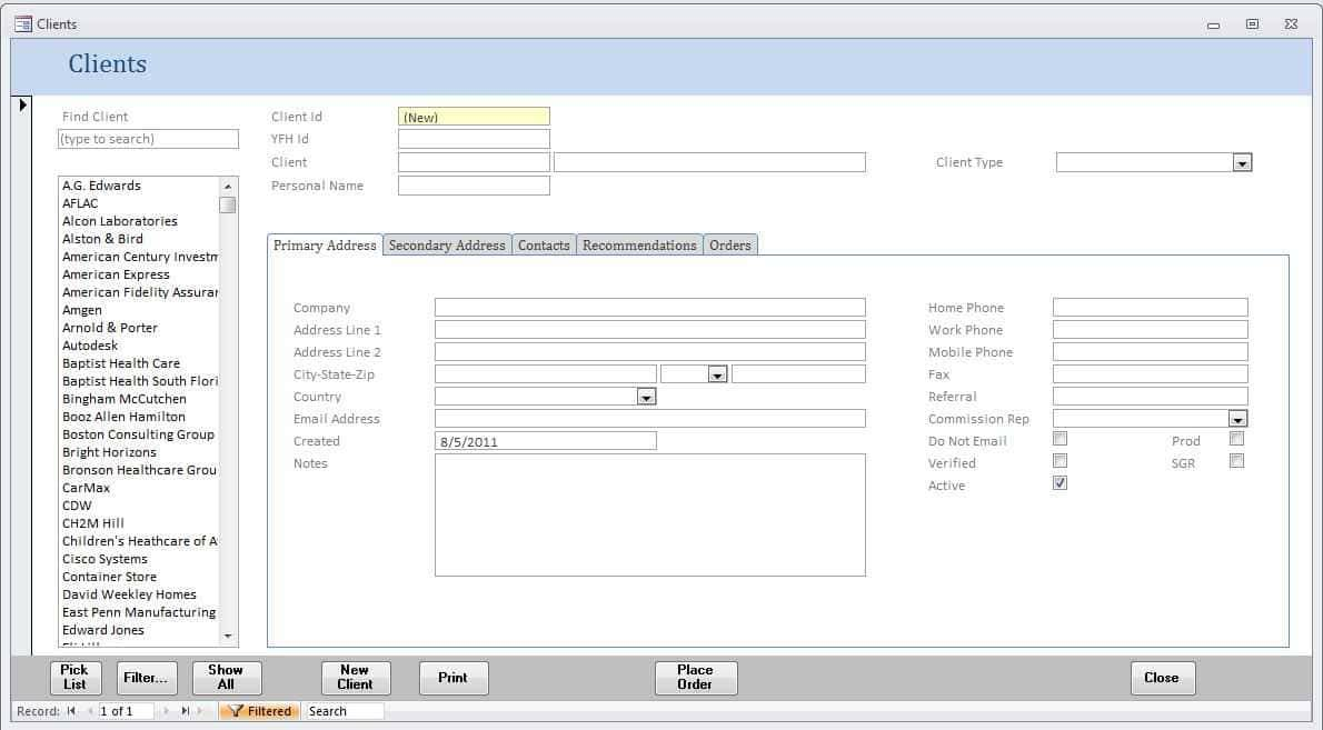Microsoft Access Purchase Order Template