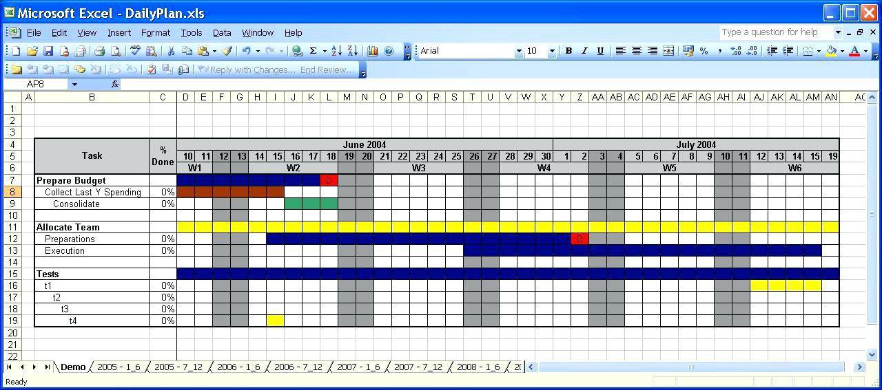 Microsoft Excel 2007 Project Plan Template