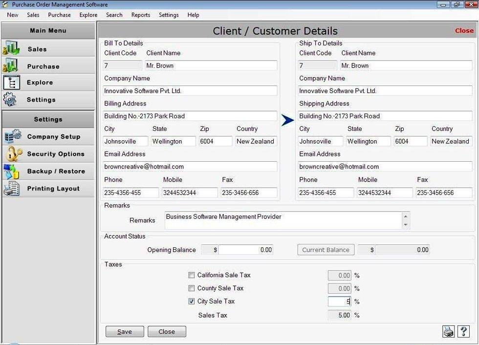 Microsoft Excel 2007 Purchase Order Template