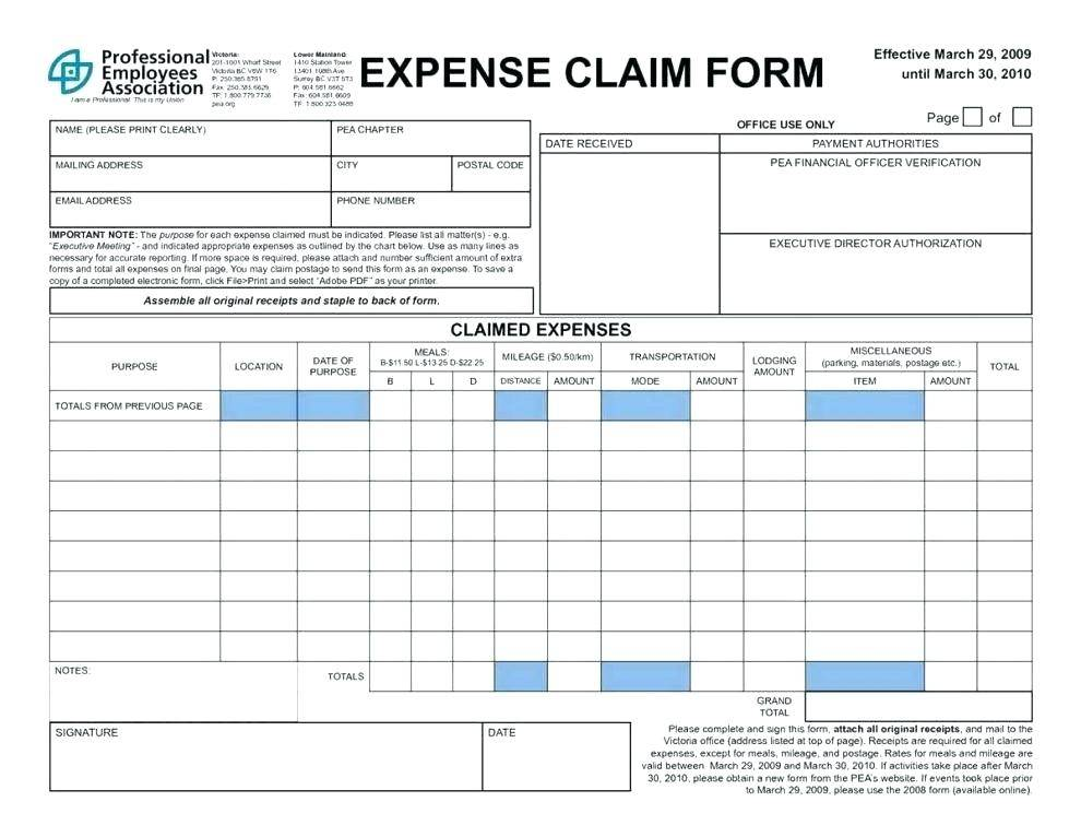 Microsoft Excel 2010 Expense Report Template