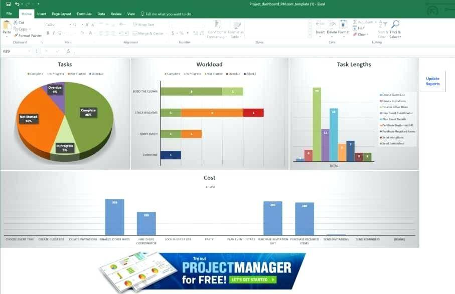 Microsoft Excel 2010 Project Management Templates