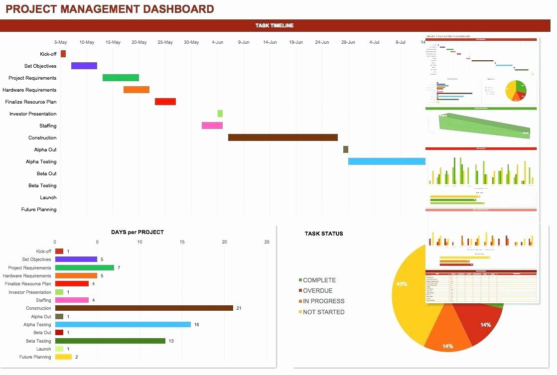Microsoft Excel Project Dashboard Template