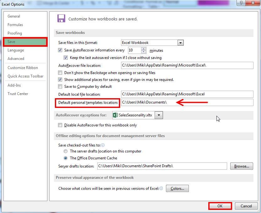 Microsoft Excel Workbook Templates