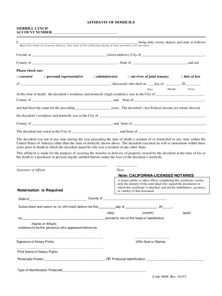 Microsoft General Affidavit Template
