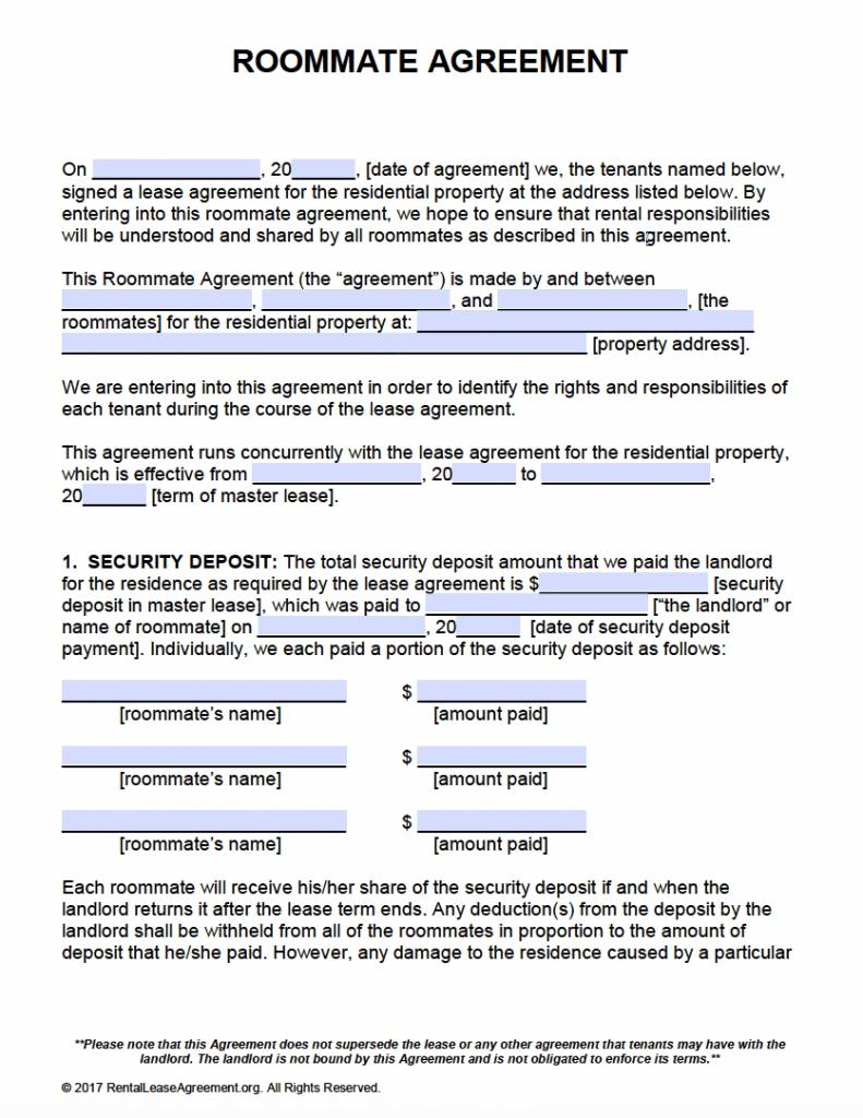 Microsoft Office Rental Agreement Template