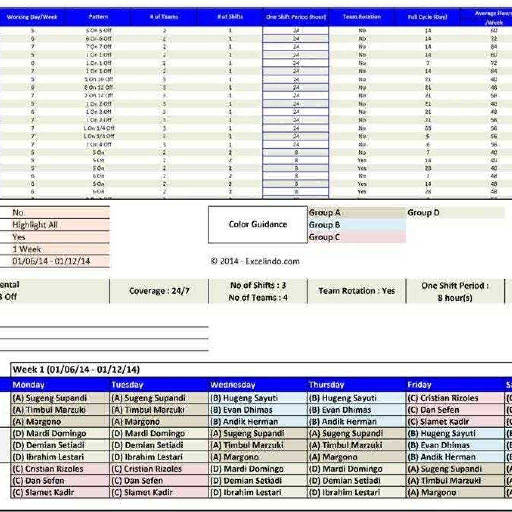 Microsoft Office Shift Schedule Templates