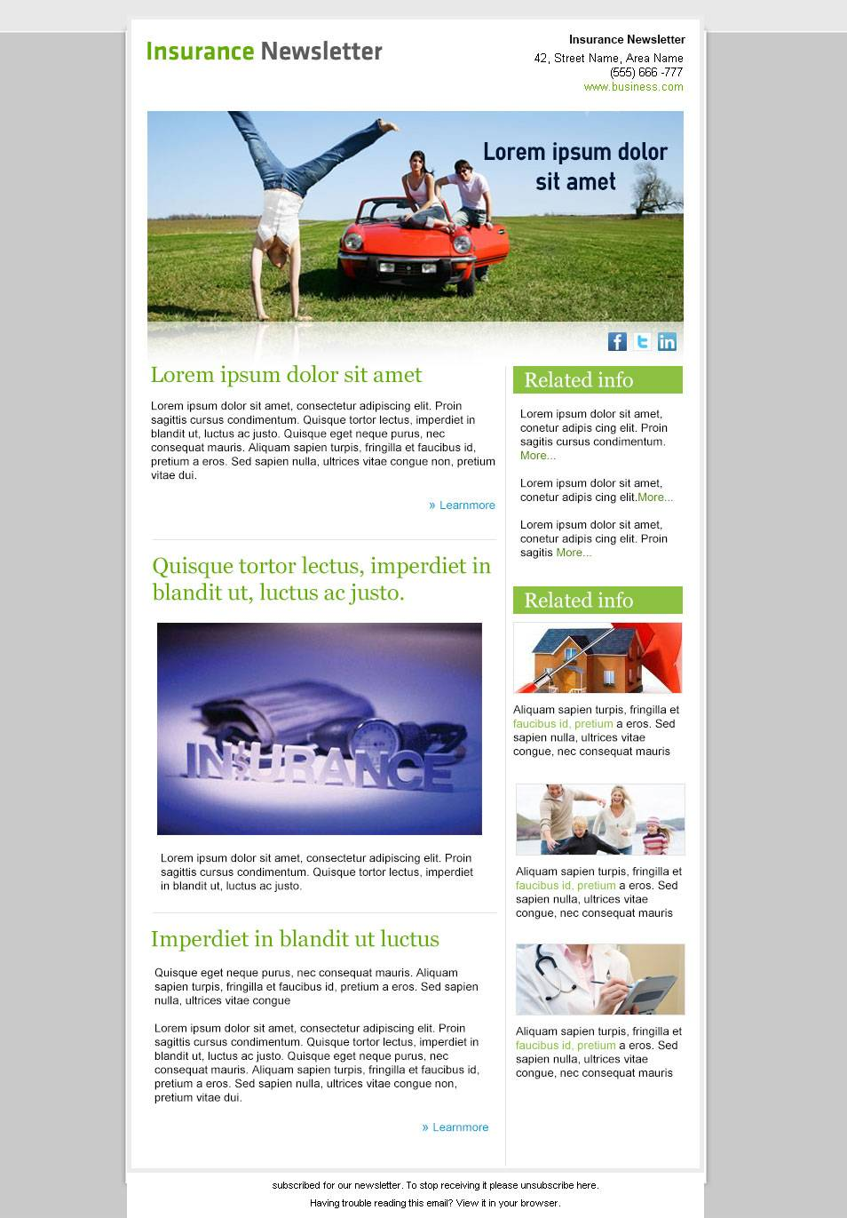 Microsoft Publisher Online Newsletter Templates