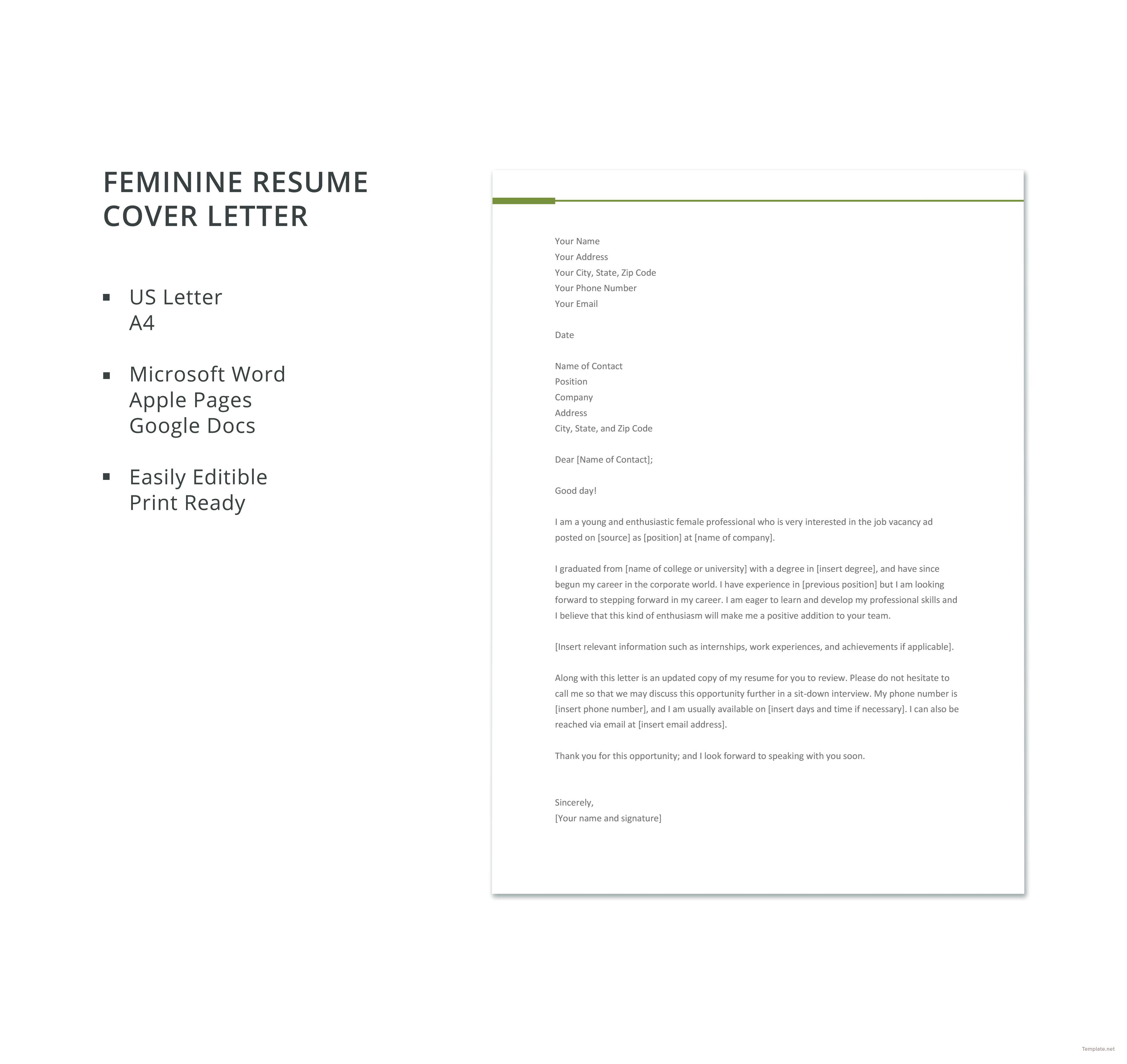 Microsoft Resume Cover Letter Templates Free