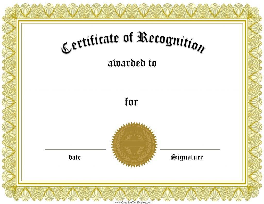 Microsoft Templates Certificates Of Recognition