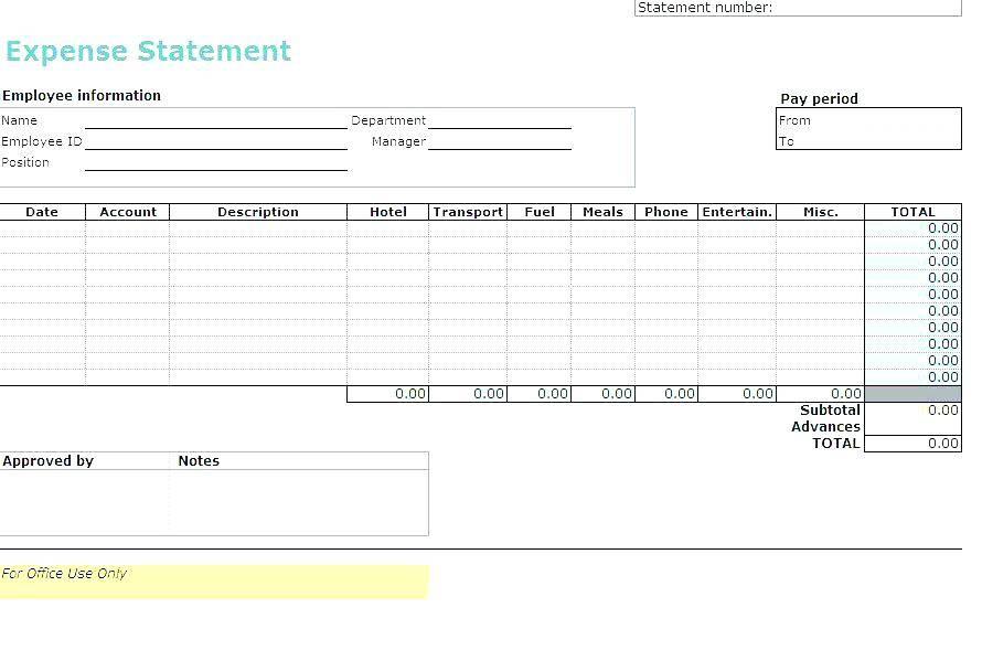 Microsoft Word Expense Reimbursement Template