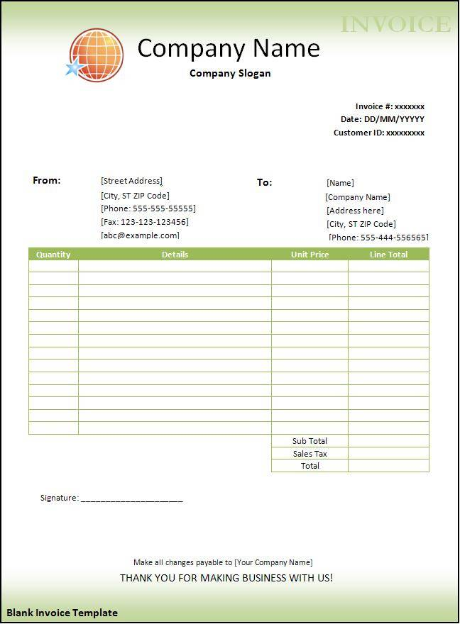 Microsoft Word Free Invoice Template