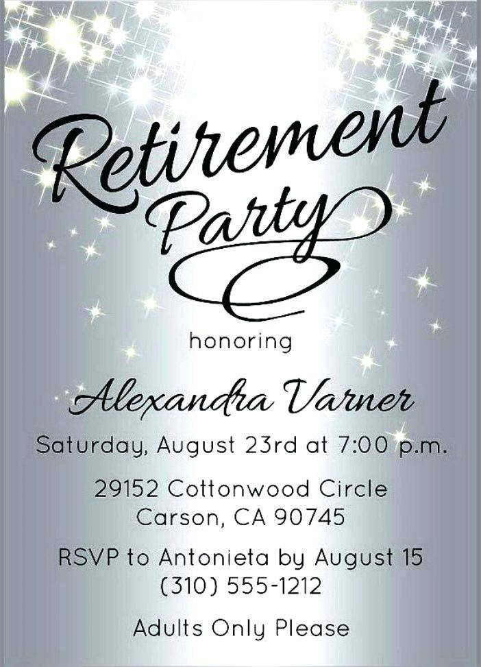 Microsoft Word Free Retirement Party Invitation Templates For Word