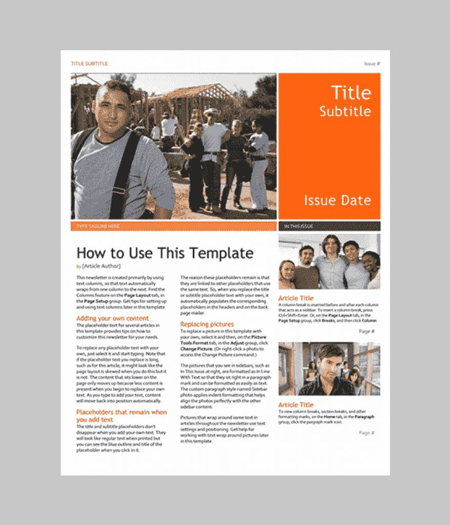 Microsoft Word Newsletter Templates Free Download
