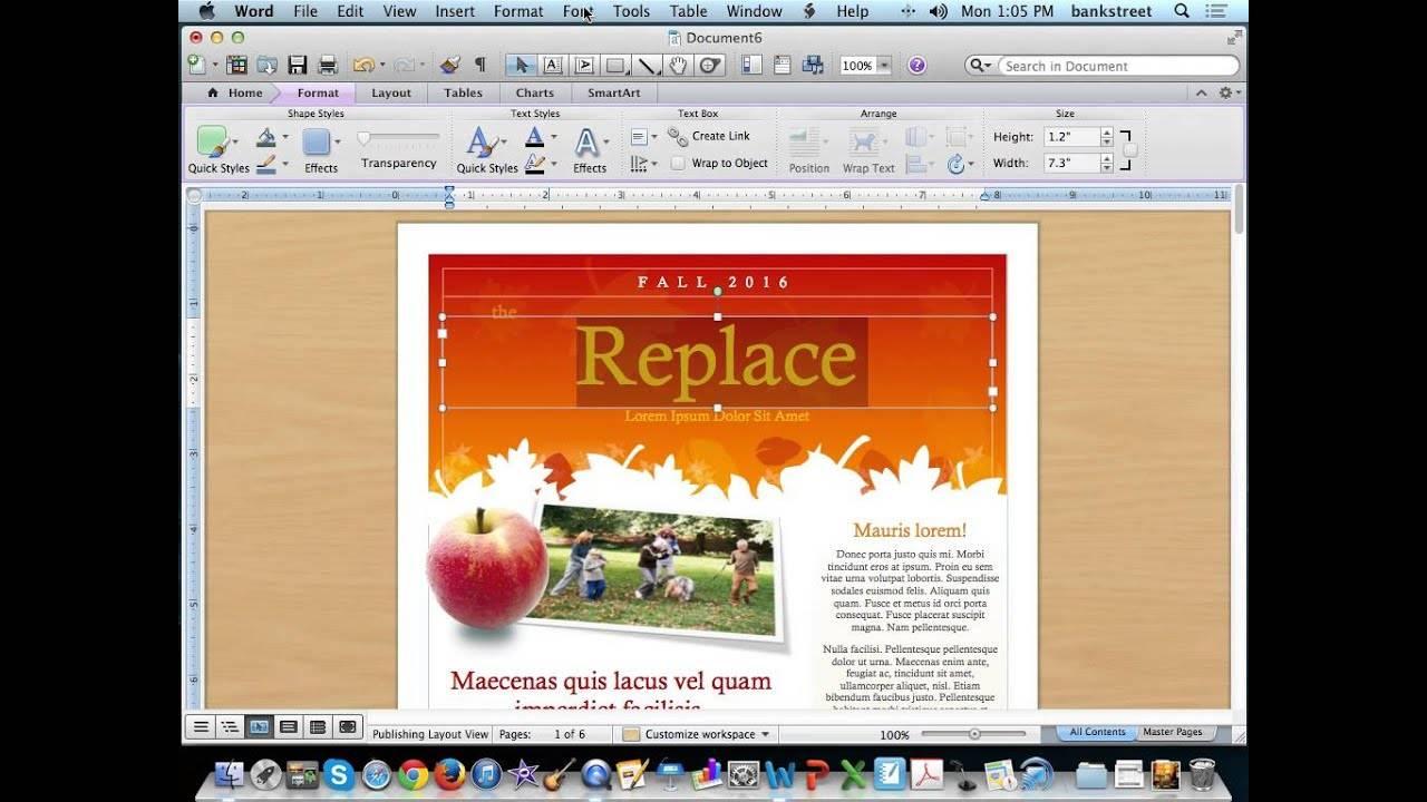 Microsoft Word Newsletter Templates
