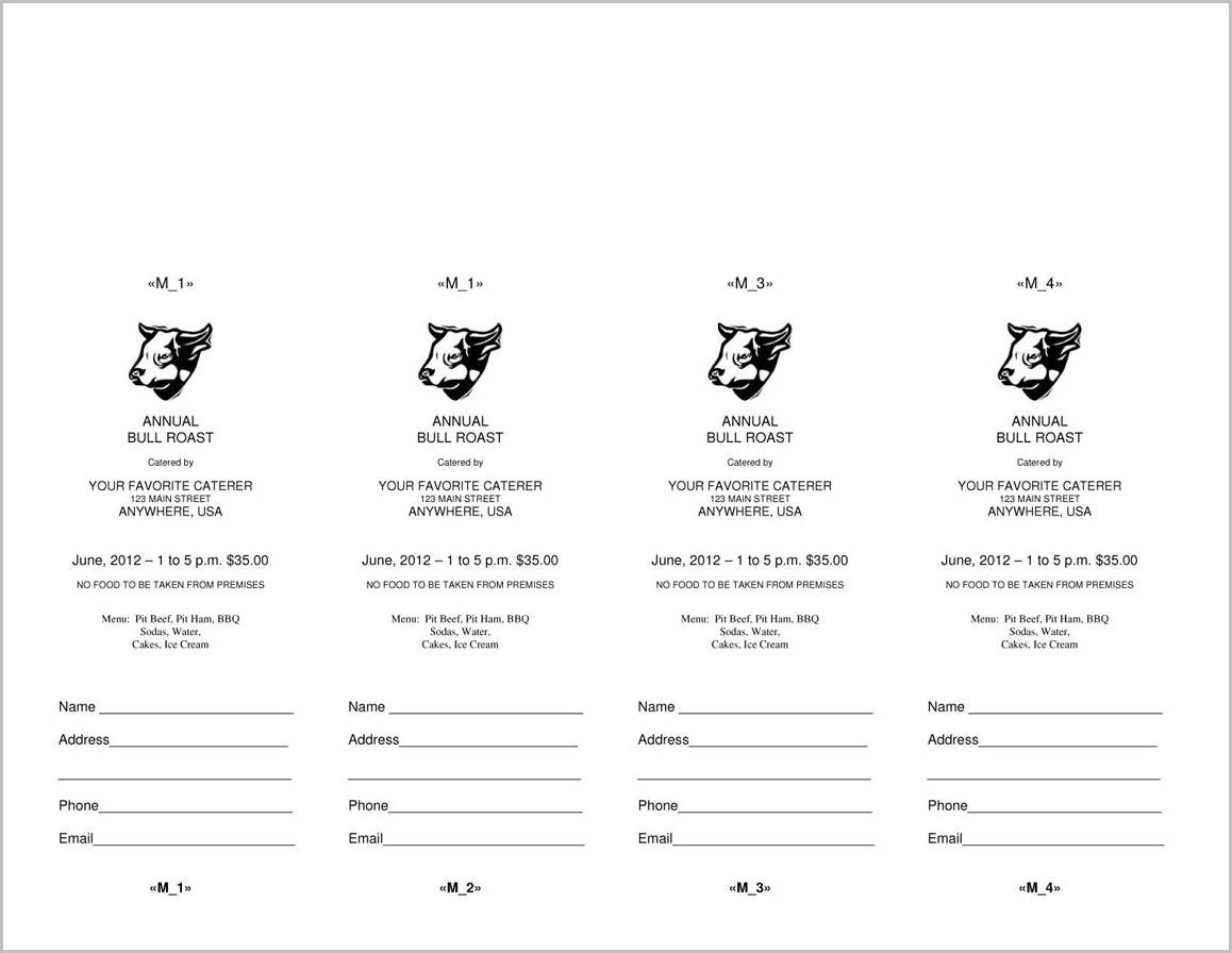 Microsoft Word Raffle Ticket Templates