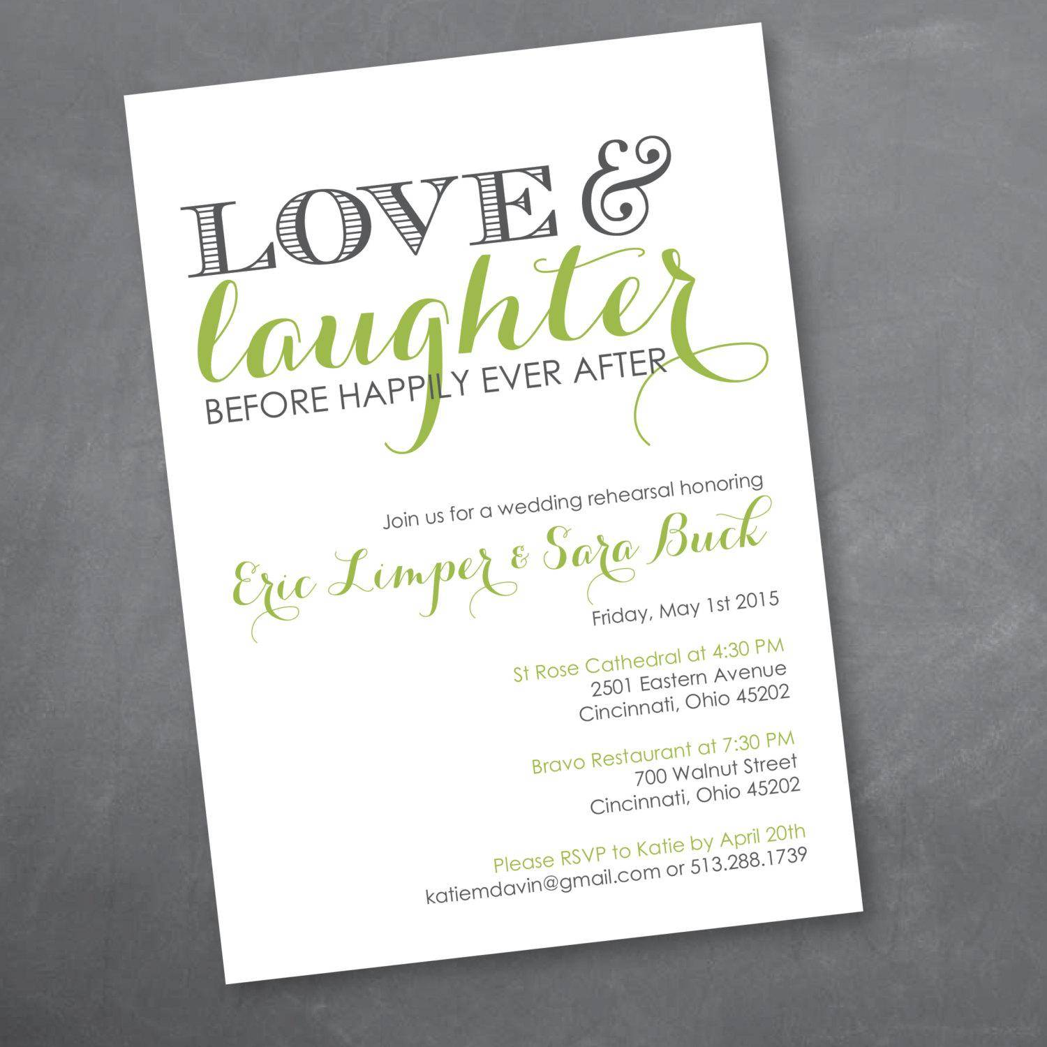 Microsoft Word Rehearsal Dinner Invitation Template