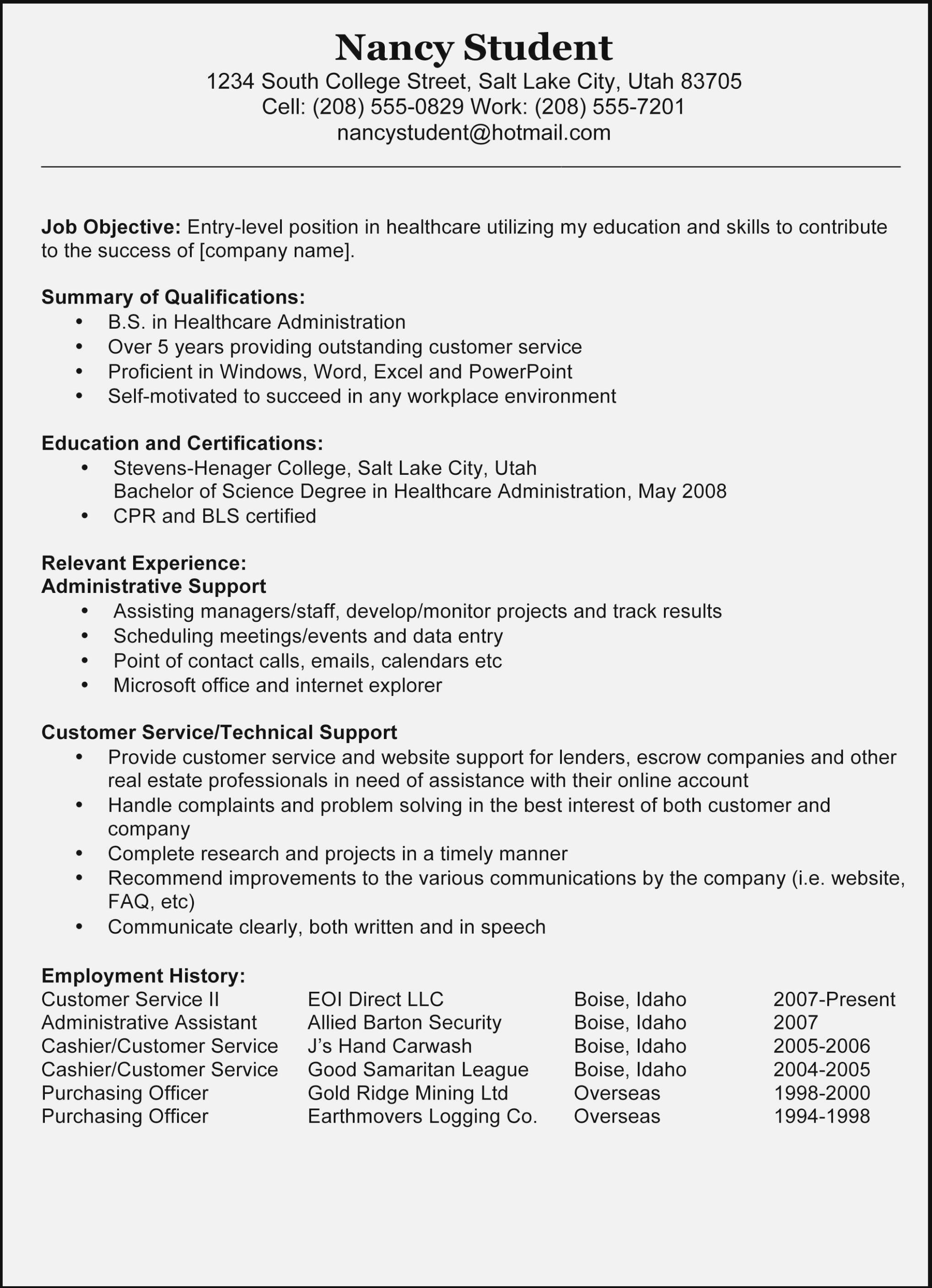 Microsoft Word Resume Template Copy And Paste