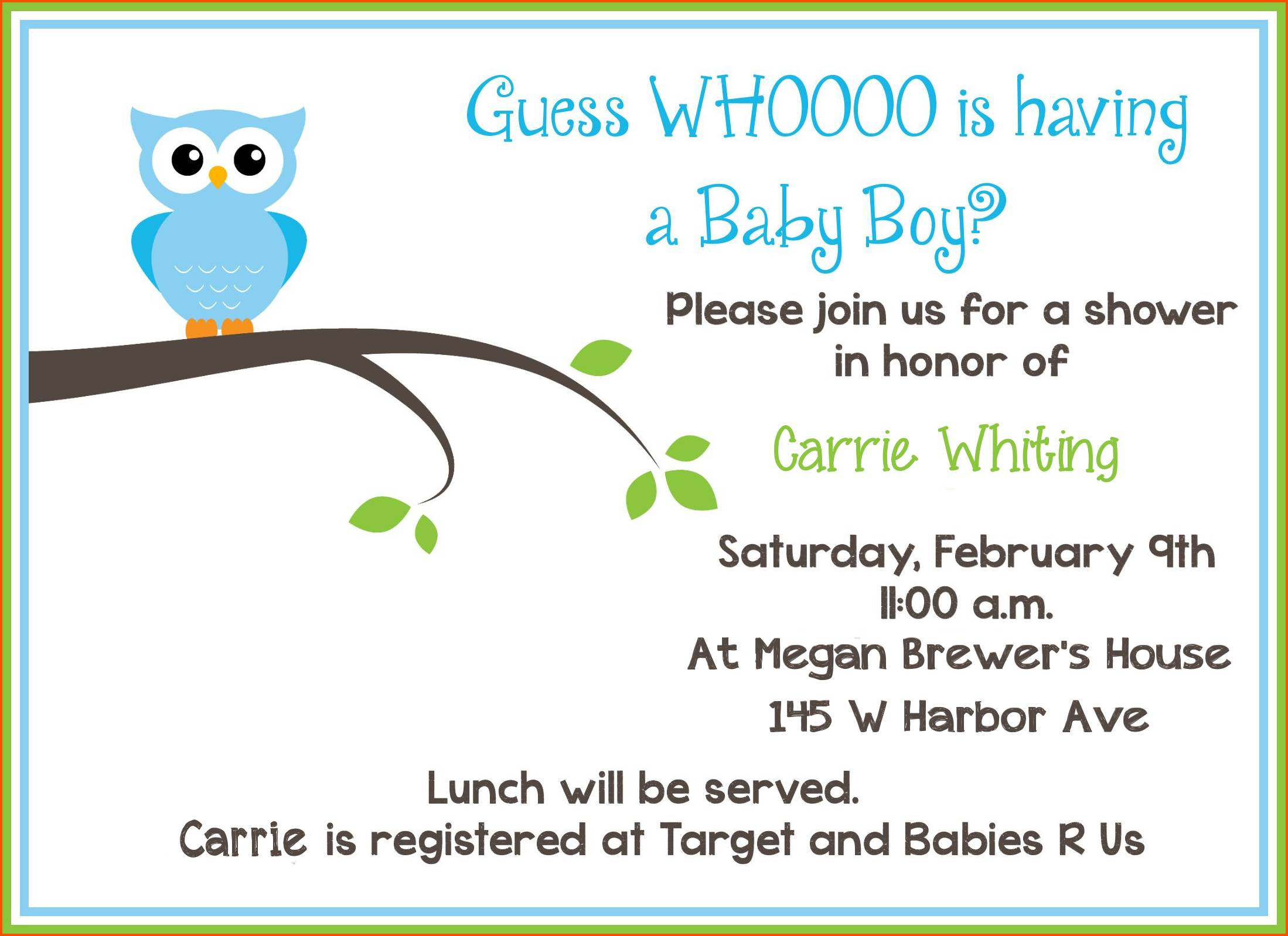 Microsoft Word Templates For Baby Shower Invitations