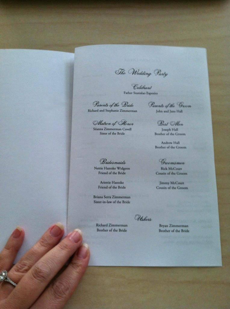 Microsoft Word Wedding Program Template Catholic