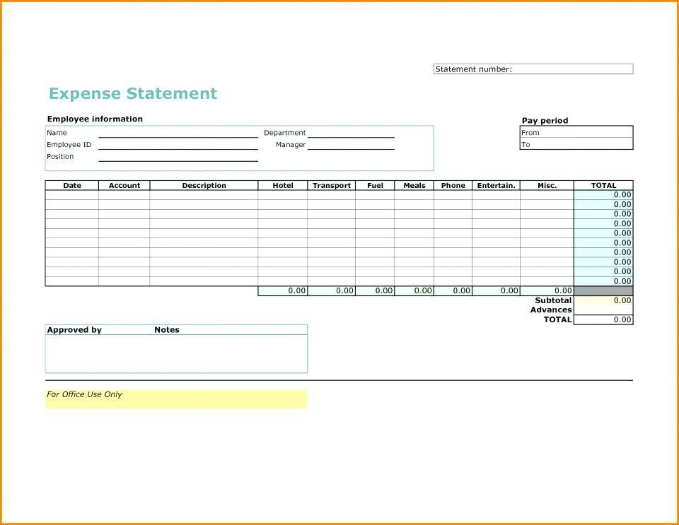 Mileage Expense Report Form Free