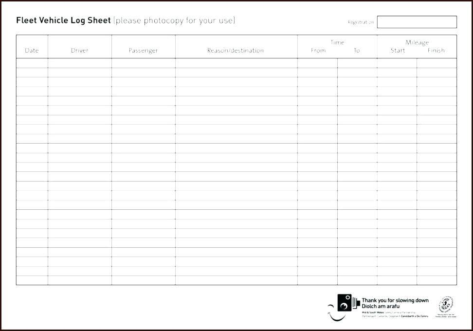 Mileage Expense Sheet Template
