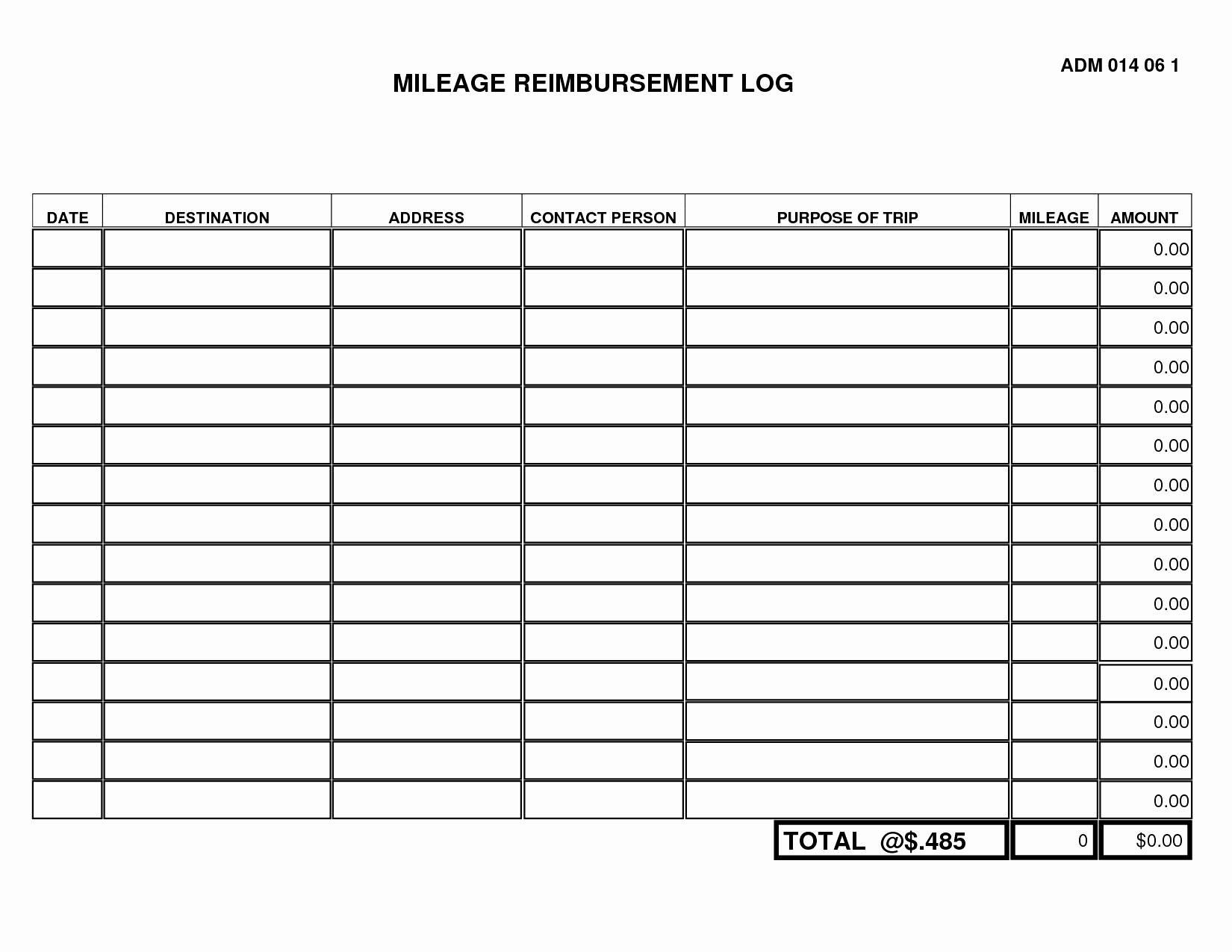 Mileage Sheet Template Uk