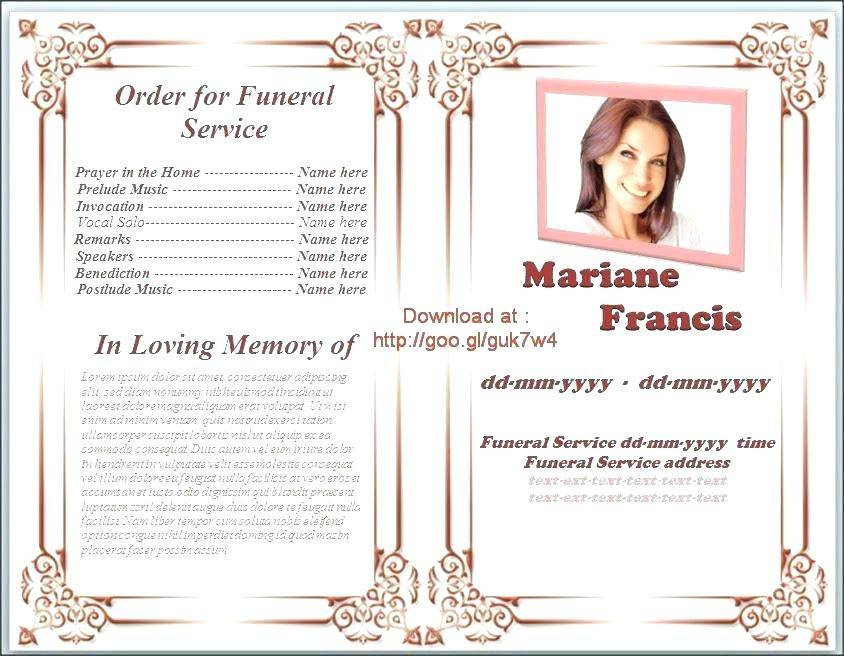 Military Funeral Program Template Free