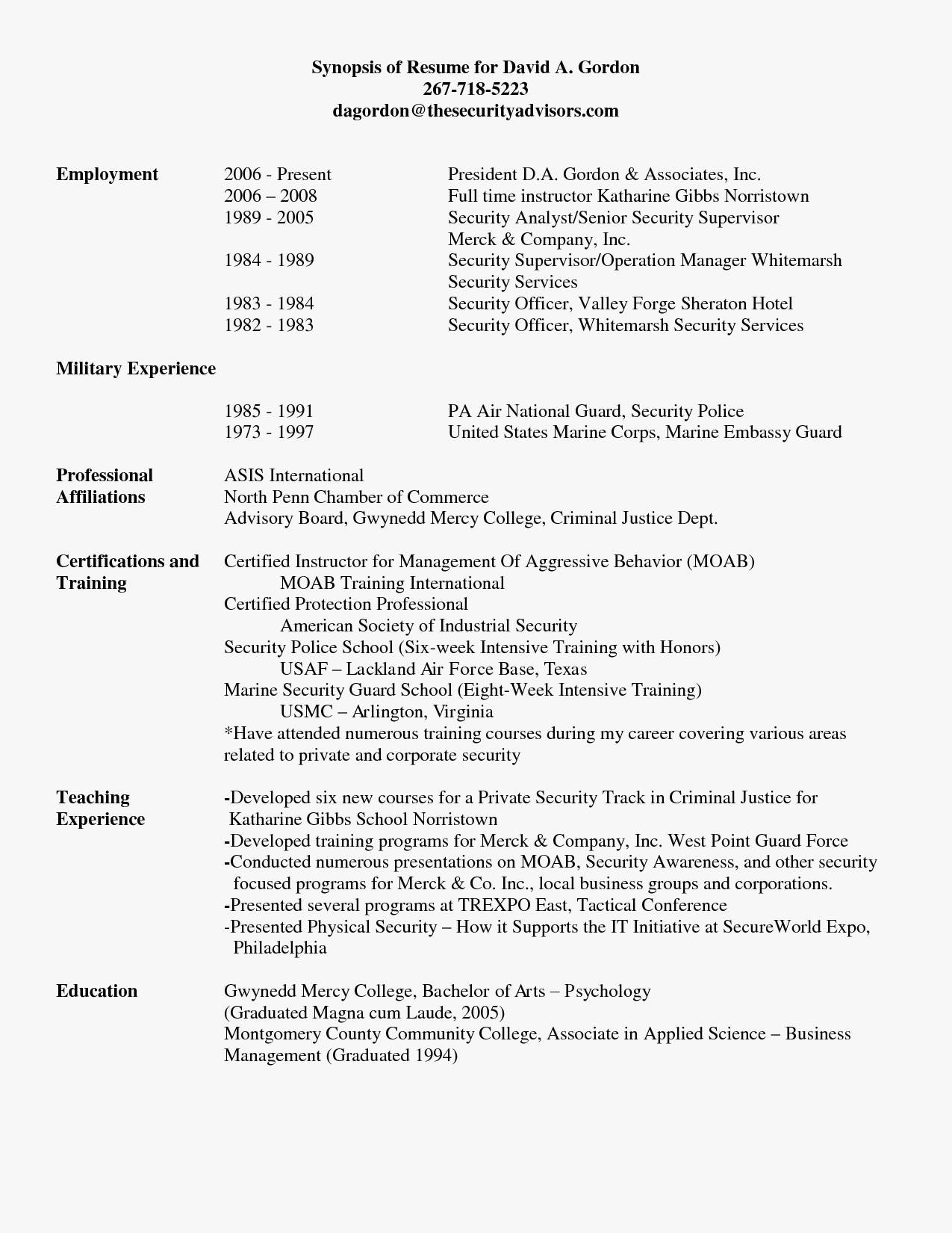 Military Police Resume Templates