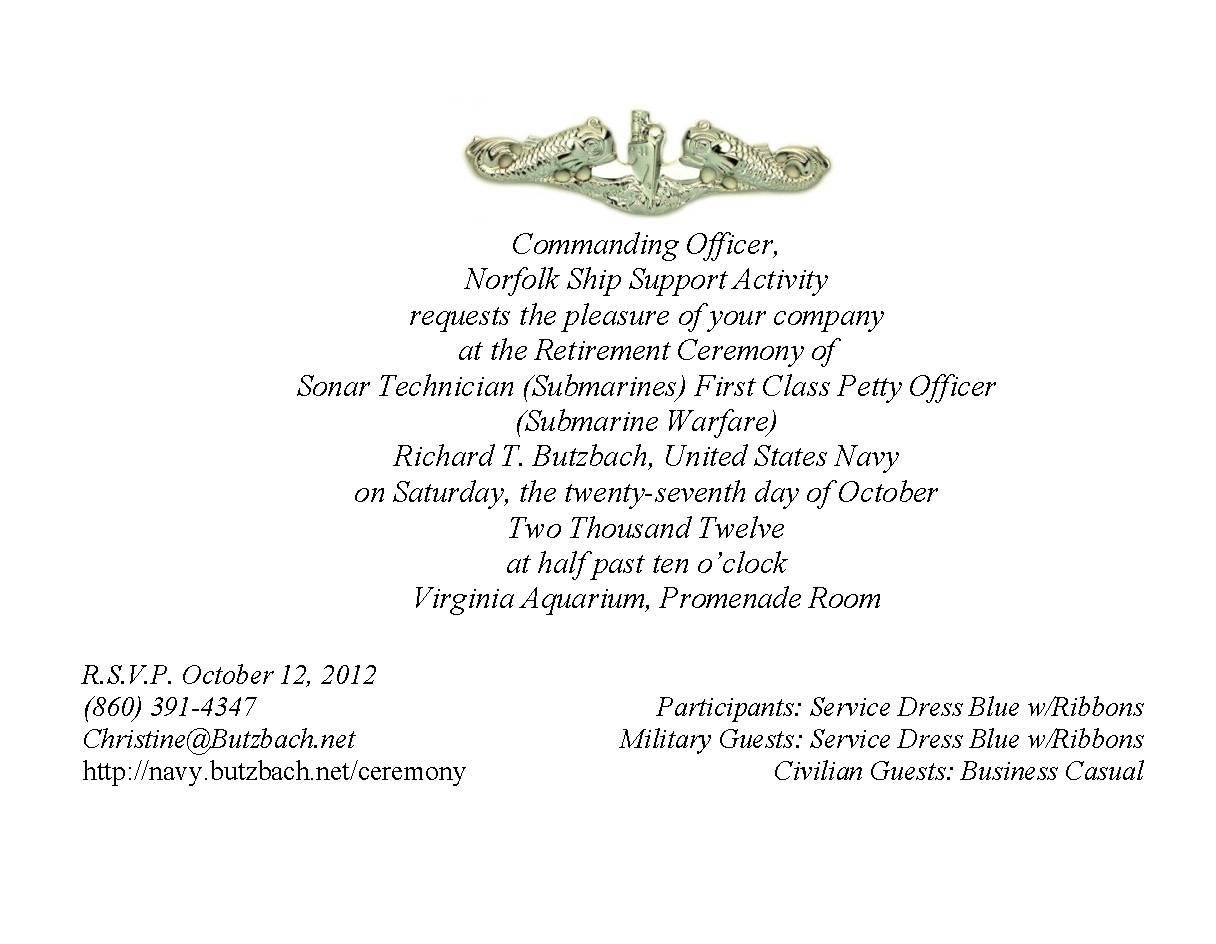 Military Retirement Invitation Templates