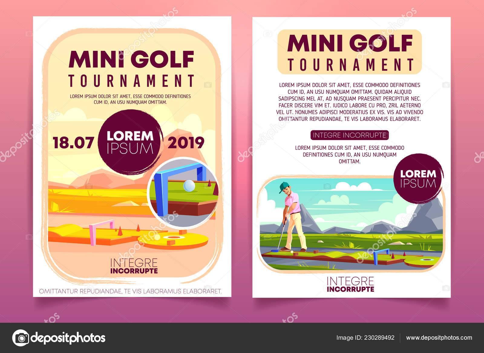 Mini Golf Tournament Flyer Template