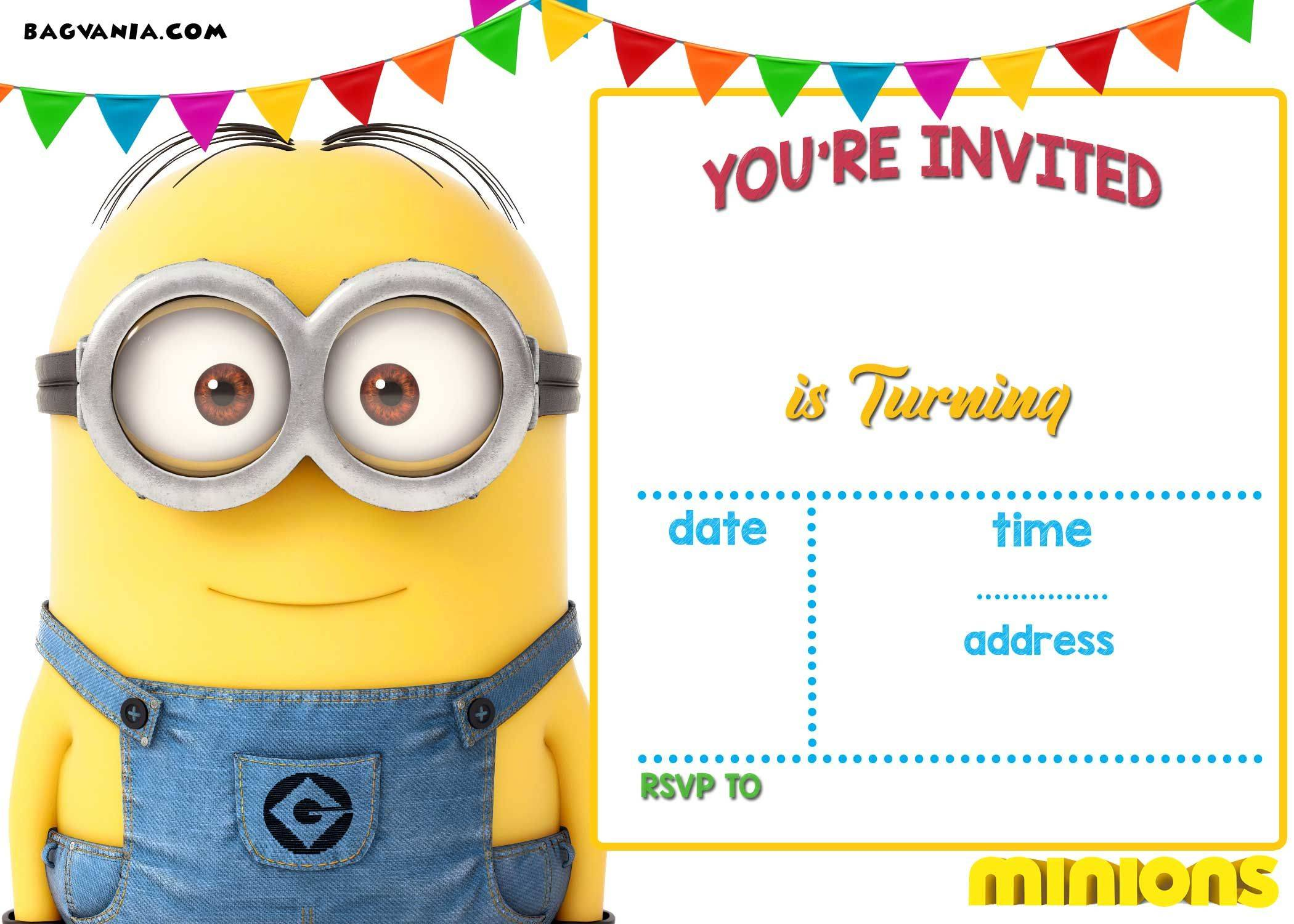 Minion Birthday Invitations Templates