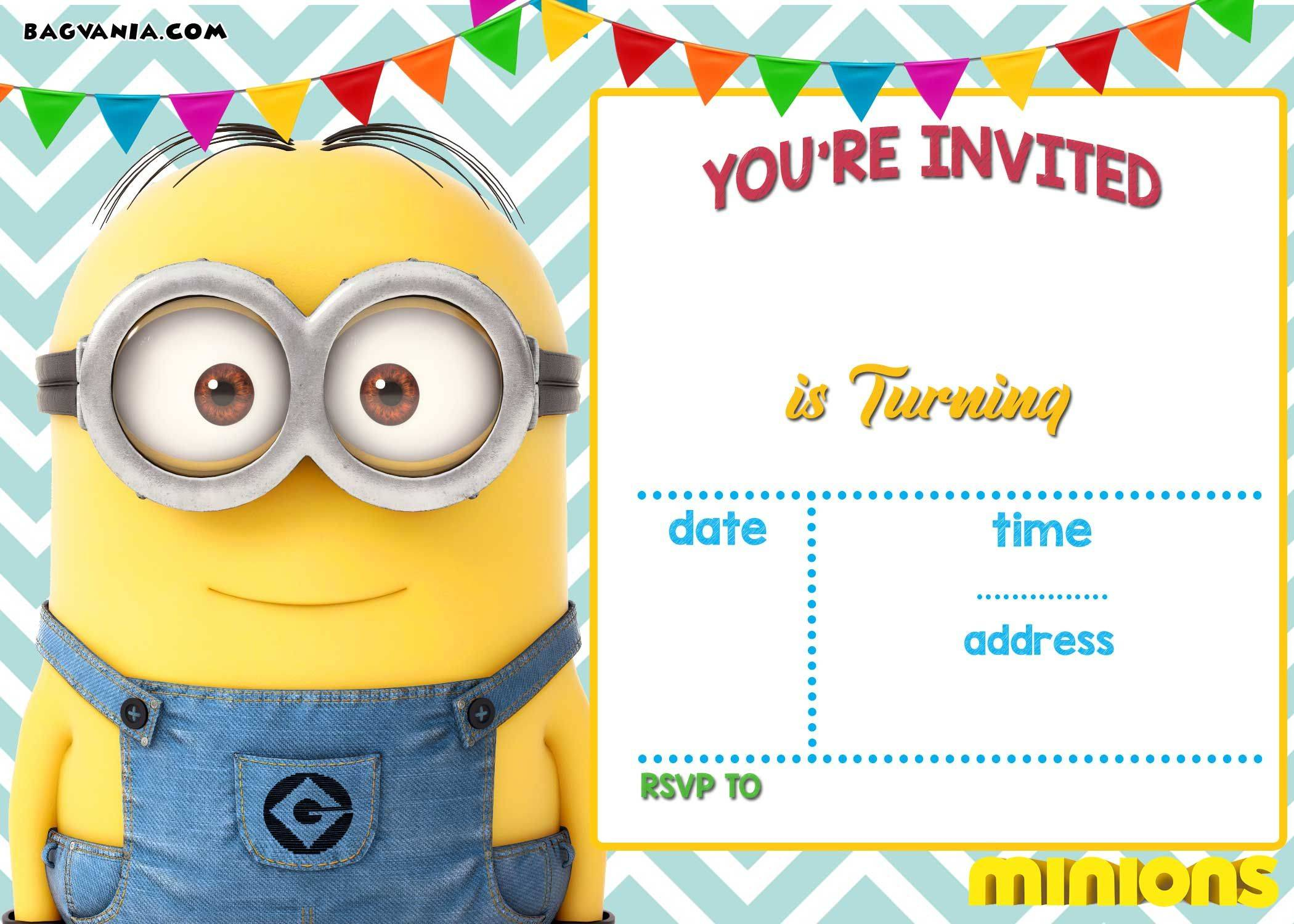 Minion Invitation Templates