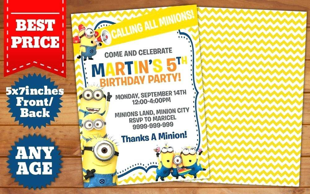 Minion Ticket Invitation Template