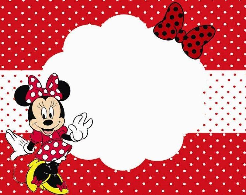 Minnie Mouse Party Invitation Template Free