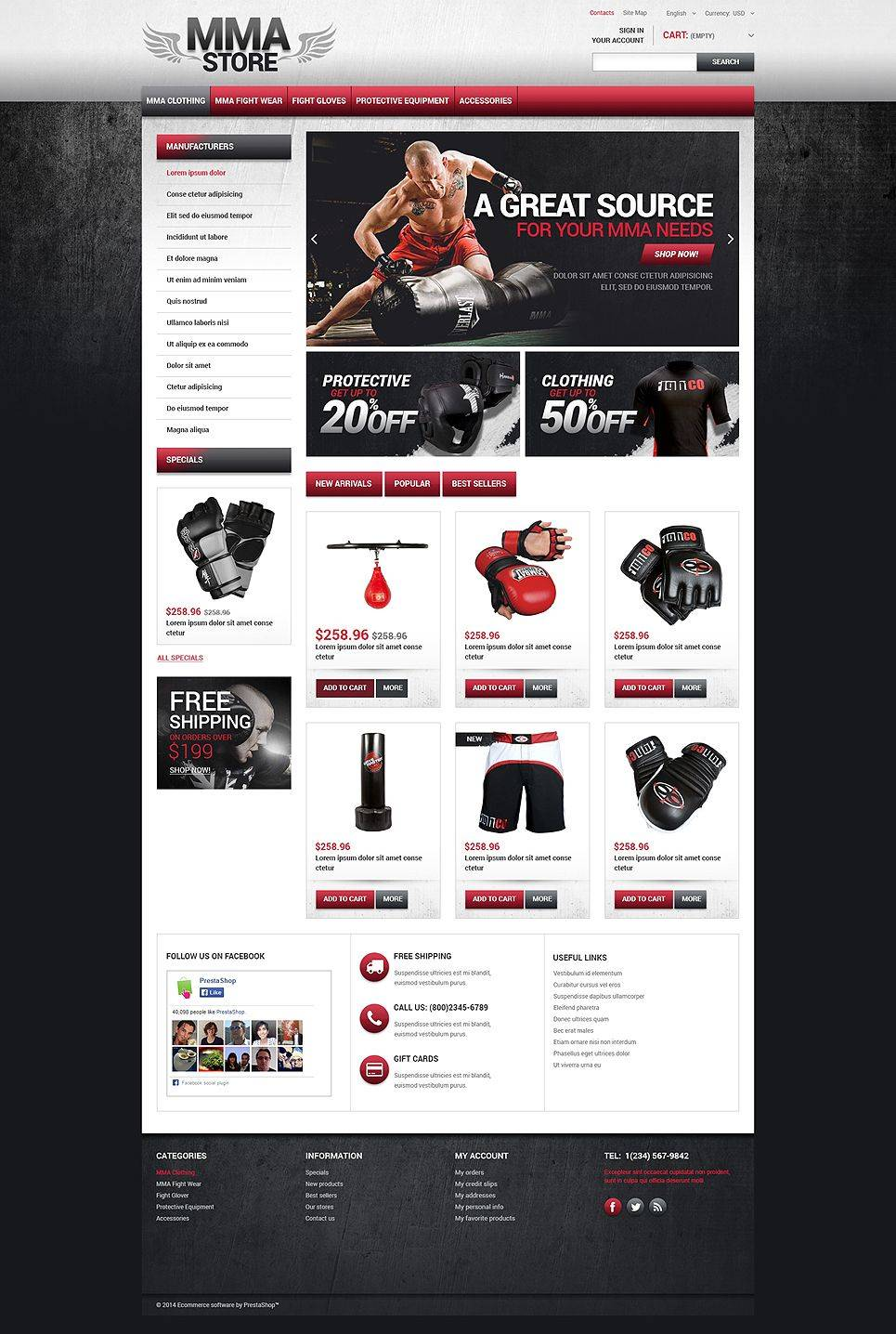 Mma Website Template