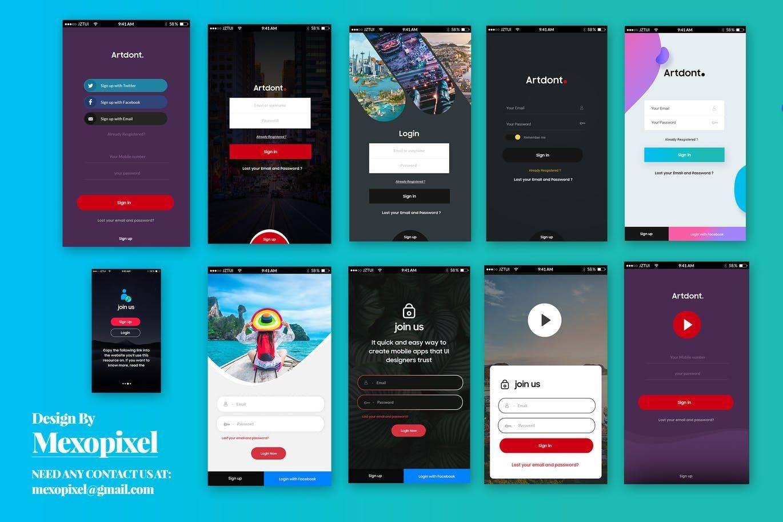 Mobile App Ui Elements Psd