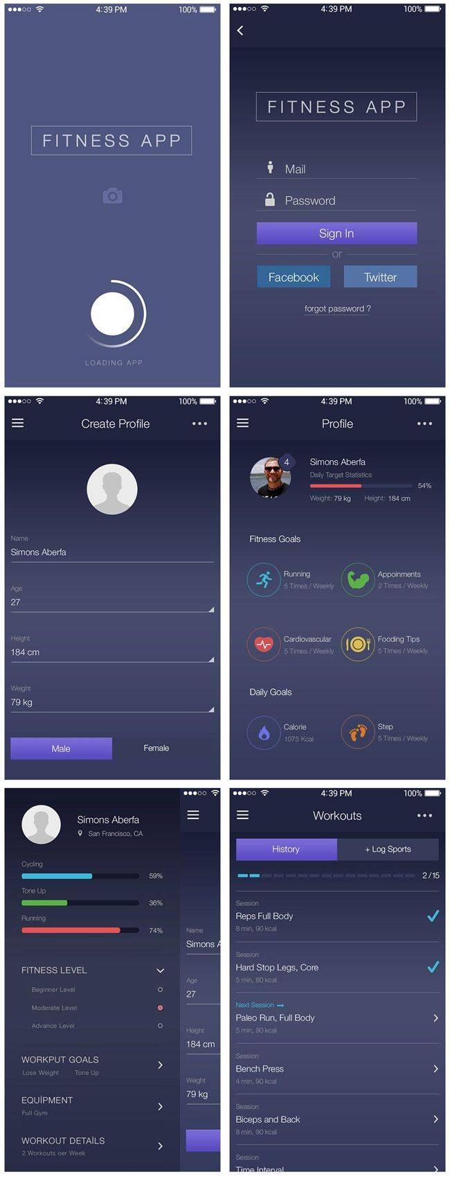 Mobile App Ui Psd Designs