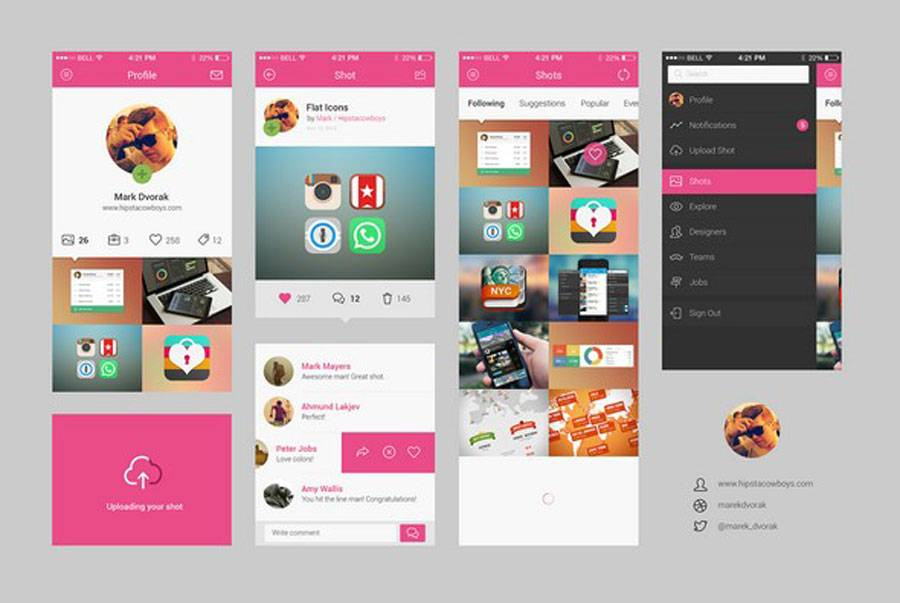 Mobile App Ui Psd Free Download