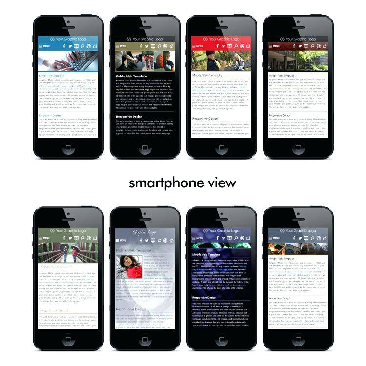 Mobile First Responsive Design Template