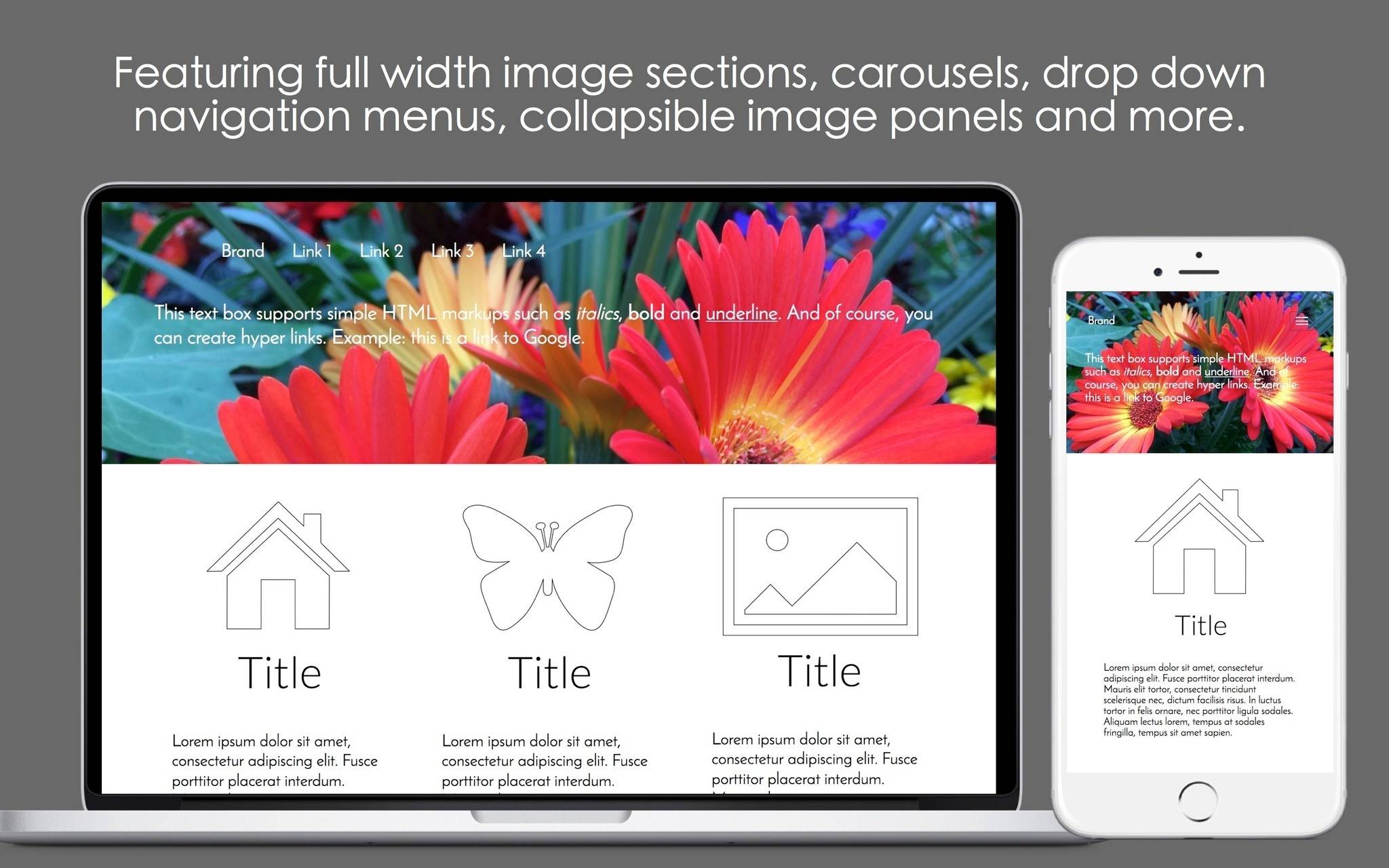 Mobile Web Page Free Templates