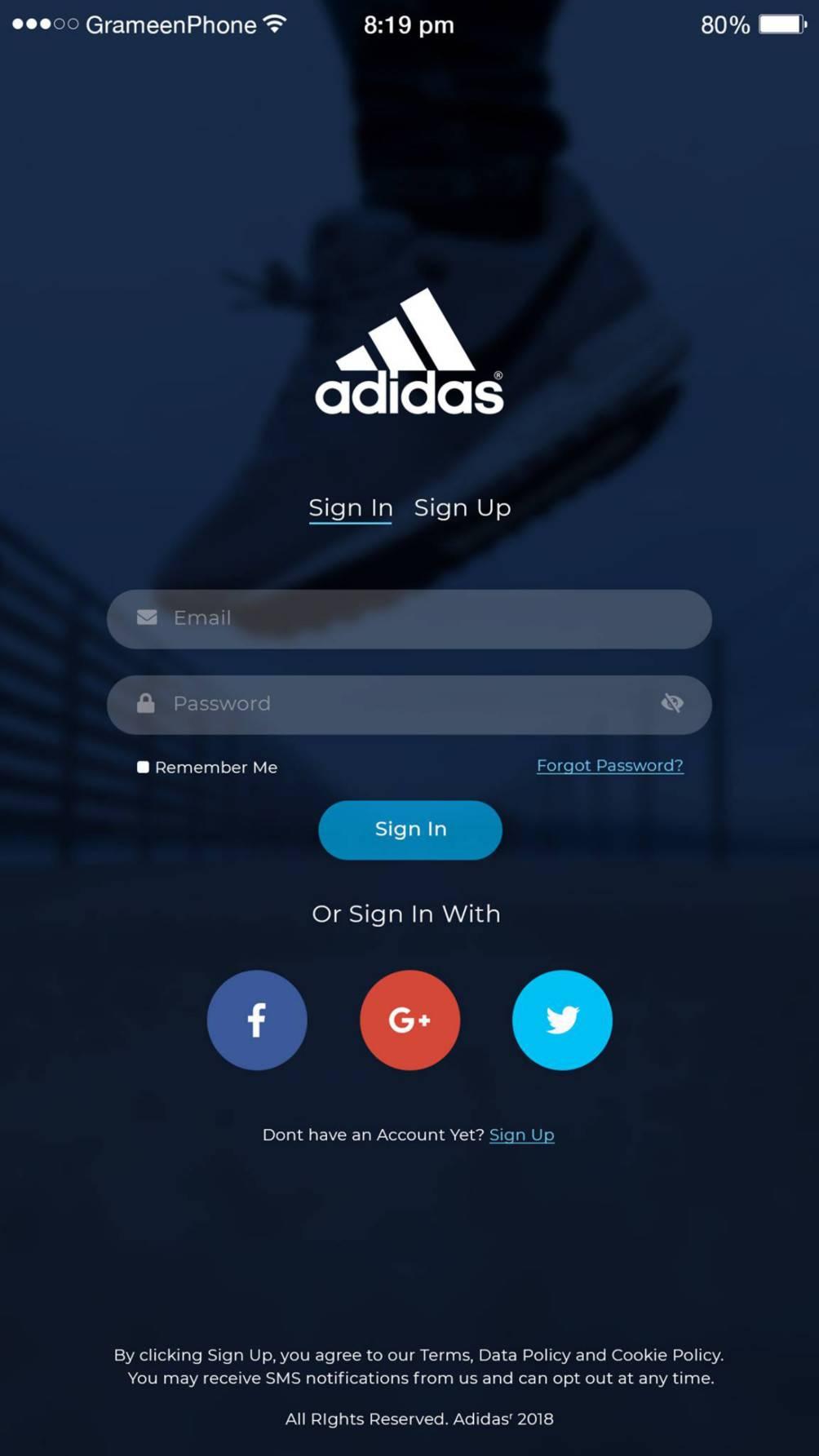 Mobile Website Mockup Template