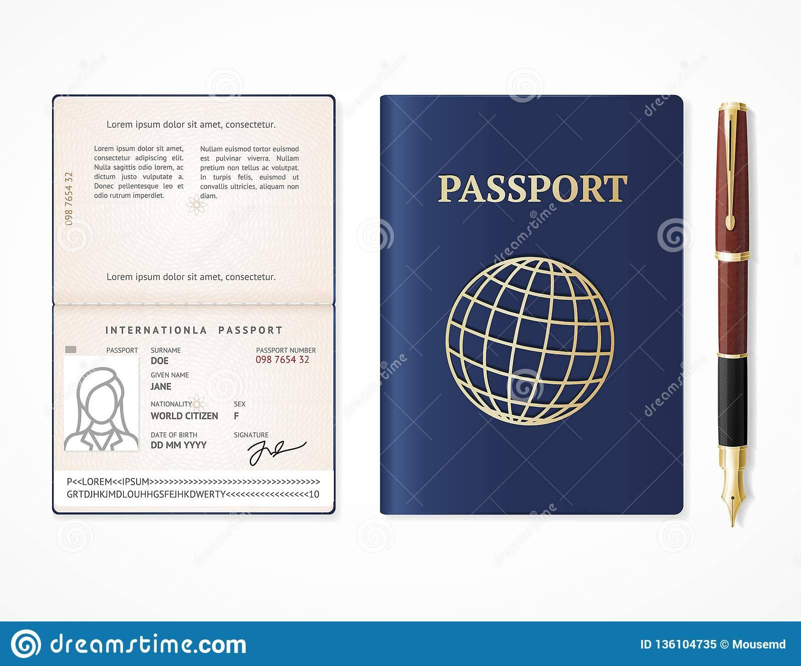Mock Passport Template