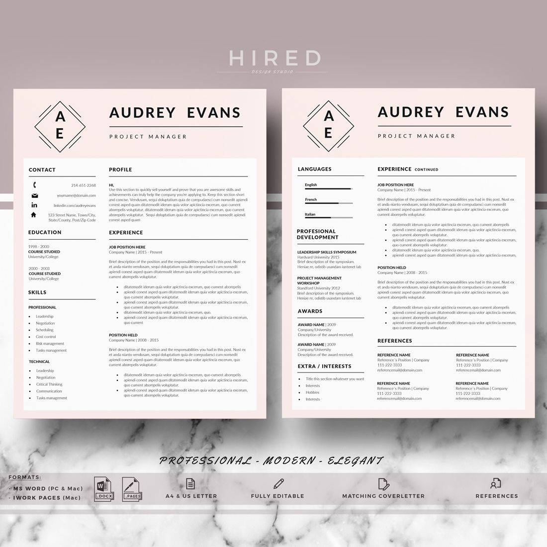 Modern Cv Templates For Word