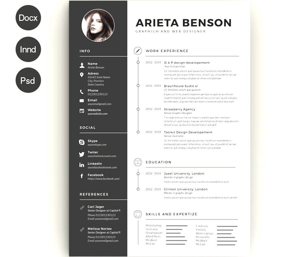 Modern Cv Templates Free Download Docx