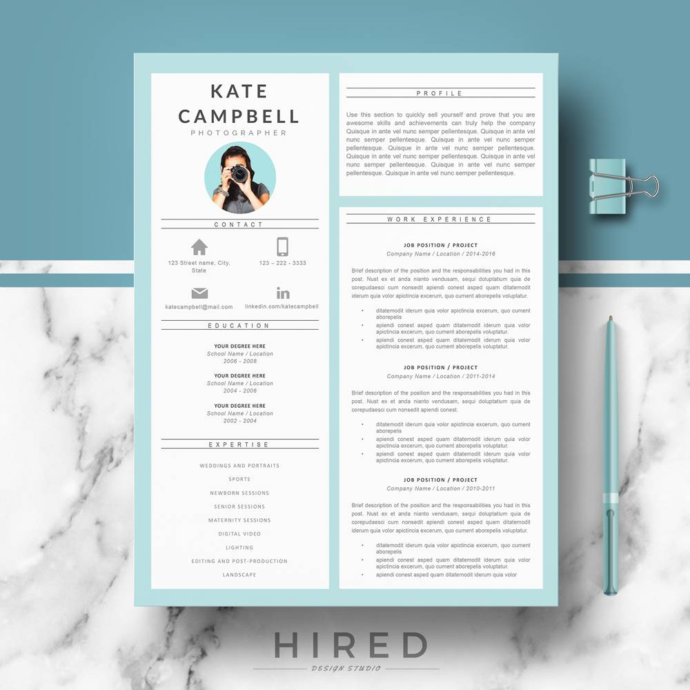 Modern Resume Template For Engineers