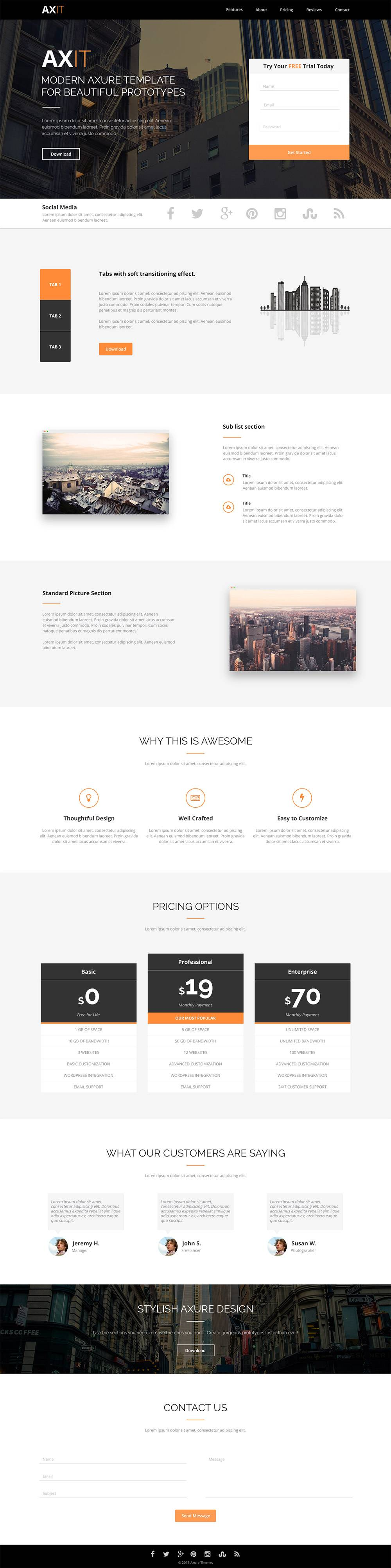Modern Website Templates Psd Free Download
